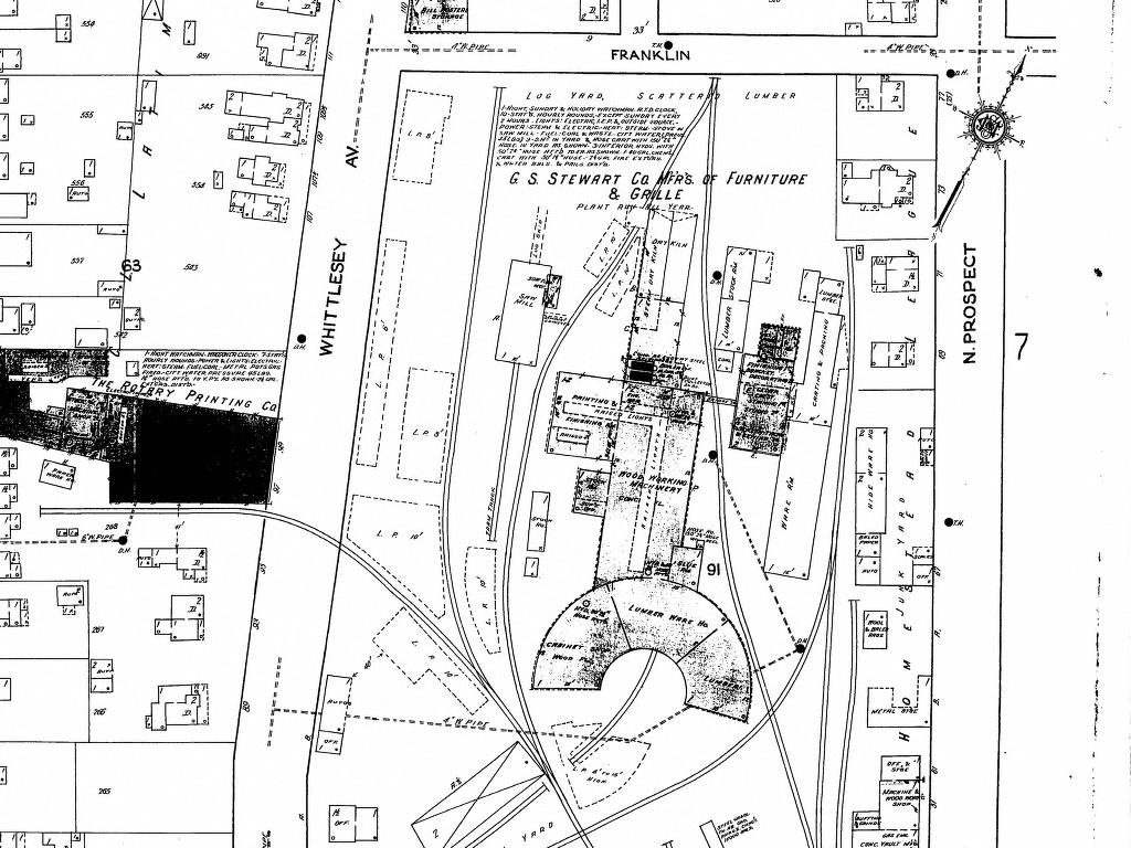 Norwalk lake shore rail maps the former lsms shops were occupied by the gs stewart furniture company after the railroad left norwalk drew penfield aiddatafo Image collections