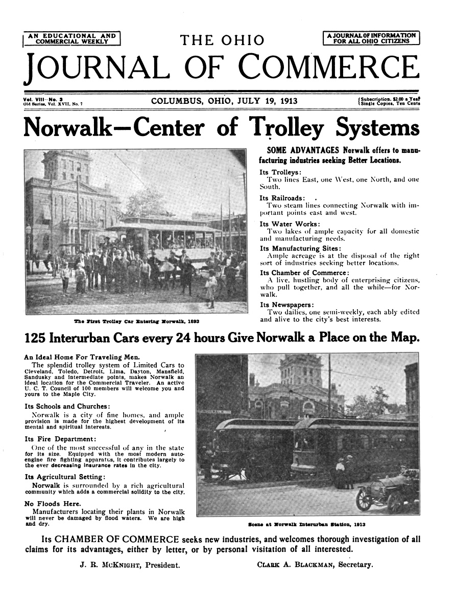 Norwalk lake shore rail maps thriving interurban service was prominently heralded by norwalks chamber of commerce in this 1913 ad drew penfield aiddatafo Gallery