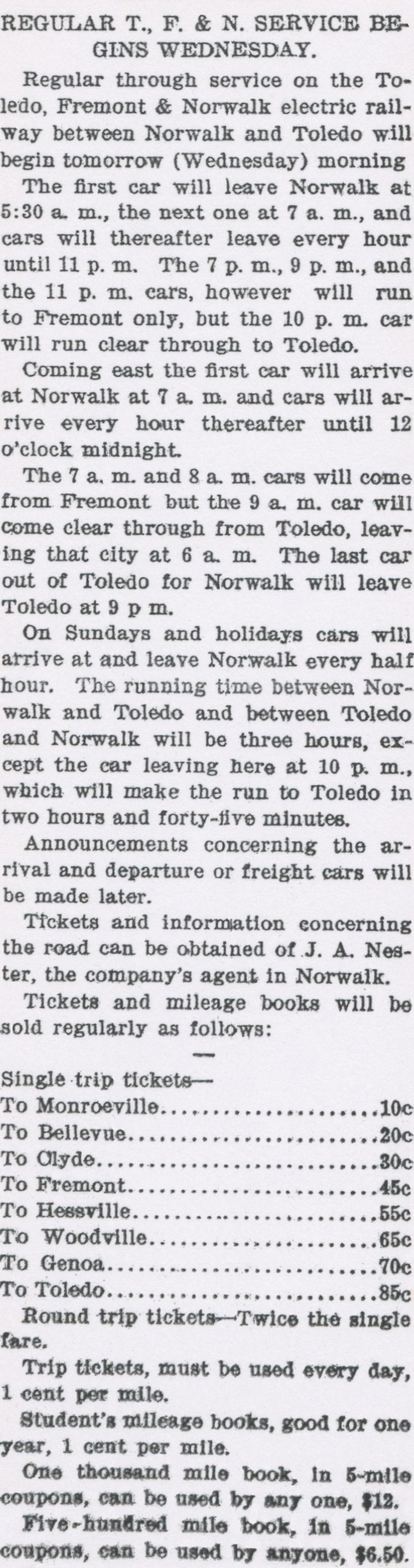 Norwalk lake shore rail maps announcement detailing the start of tfn service to and from norwalk including schedule and fares norwalk reflector aiddatafo Gallery