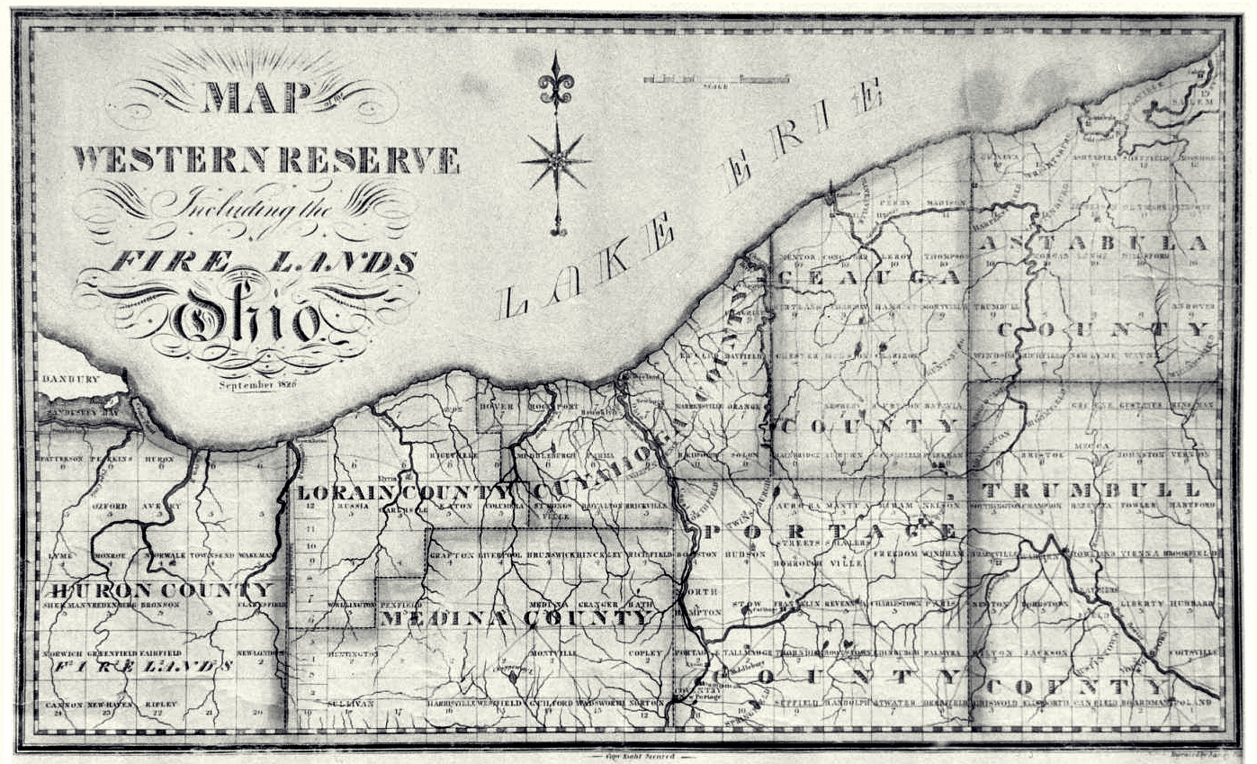 Norwalk lake shore rail maps 1826 map of the ohio formerly connecticut western reserve including the firelands in present huron and erie counties ohio historical society sciox Choice Image