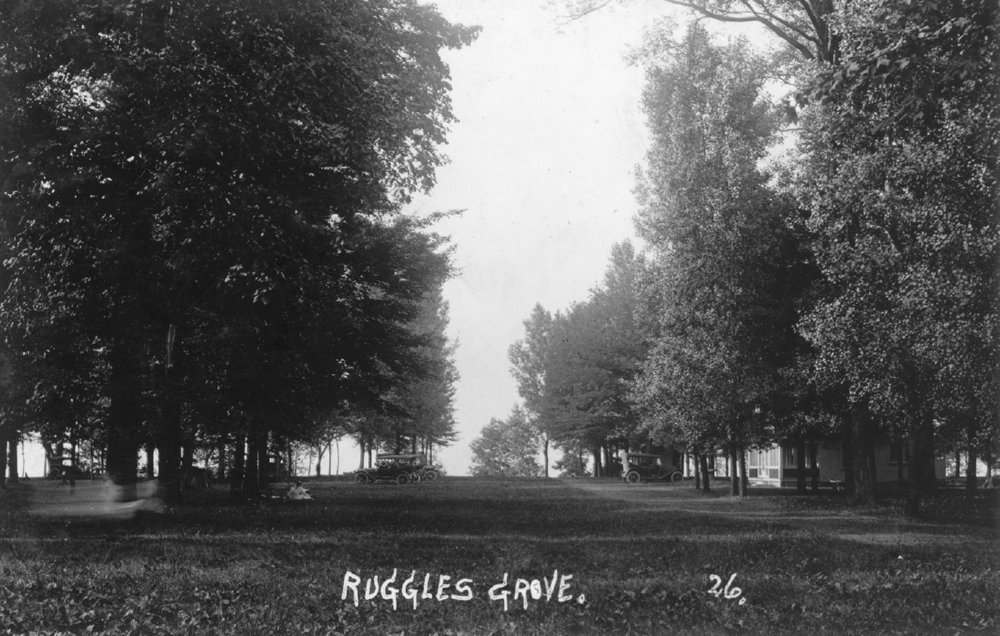 Cottages And Automobiles At The Old Picnic Grove Ruggles Beach Ernst Neibergall Photo
