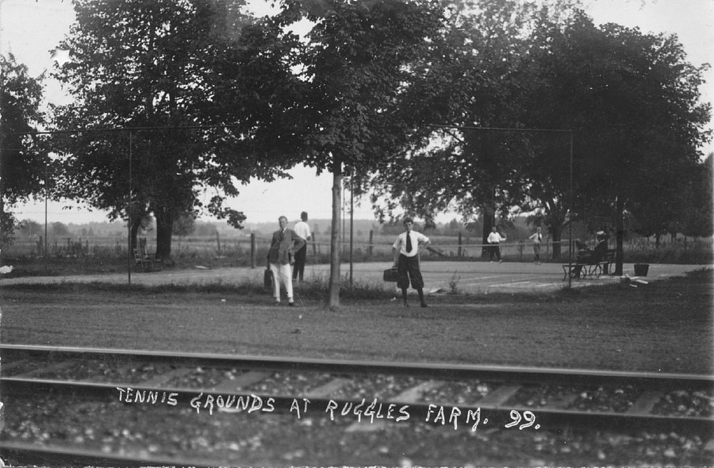 Tennis Was One Of Many Activities At Ruggles Beach Lse Tracks Visible Bottom Photo Ernst Neibergall